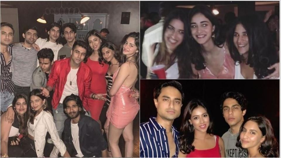 Ananya Panday parties with Aryan and a house full of friends