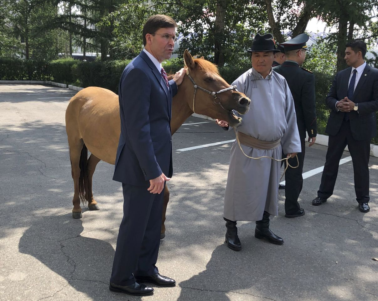 Pentagon chief visits Mongolia to strengthen military bonds
