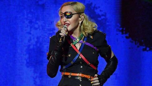 Popstar Madonna celebrating