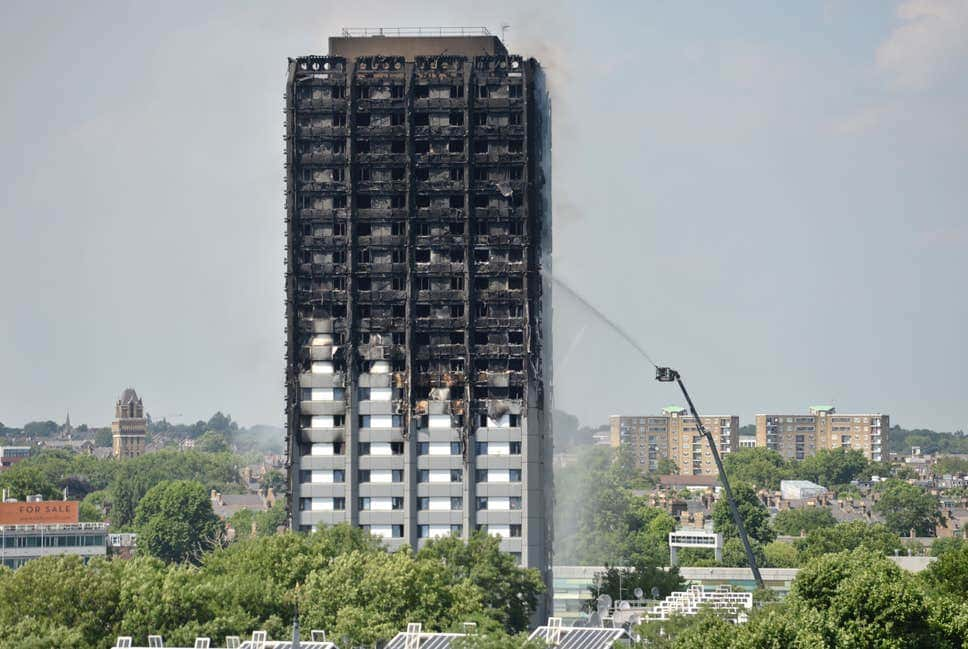 Grenfell-style cladding tower