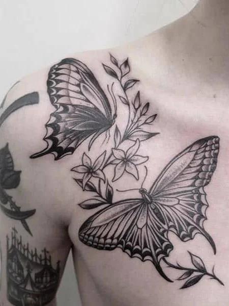 Collar Bone Tattoos For Men