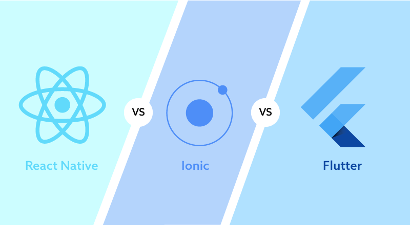 Comparison of Ionic, Flutter, & React Native